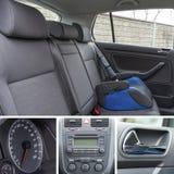 O interior do carro detalha a colagem Fotos de Stock Royalty Free