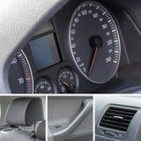 O interior do carro detalha a colagem Foto de Stock
