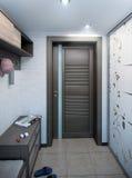 O interior do corredor do minimalismo, 3d rende Imagens de Stock