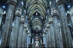 O interior do domo, Milão, Foto de Stock Royalty Free