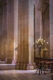 O interior do monastério de Batalha, Portugal Foto de Stock Royalty Free