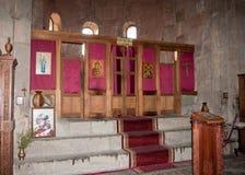 O interior do monastério de Jvari, Republic of Georgia Fotografia de Stock Royalty Free
