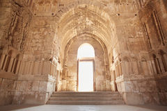 O interior do palácio de Umayyad em Amman Imagem de Stock