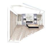O interior do quarto Fotos de Stock Royalty Free