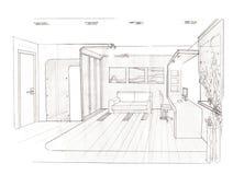 O interior do quarto para a menina Fotografia de Stock