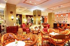 O interior do restaurante do hotel de luxo Foto de Stock