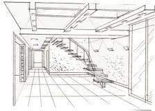 O interior do salão Imagens de Stock
