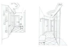 O interior do salão Imagens de Stock Royalty Free