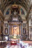 O interior do San Carlo Church, Turin Imagens de Stock Royalty Free