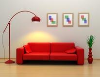 O interior em 3d Fotografia de Stock Royalty Free