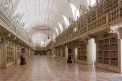 O interior histórico da biblioteca Castelo velho Foto de Stock