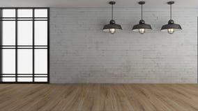 O interior industrial 3d rende imagens Fotos de Stock