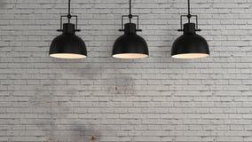 O interior industrial 3d rende imagens ilustração do vetor