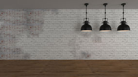 O interior industrial 3d rende imagens ilustração stock