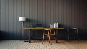 O interior moderno do escritório domiciliário Imagem de Stock Royalty Free