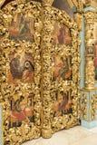 O interior o templo do ícone de Don da mãe do deus Fotos de Stock Royalty Free