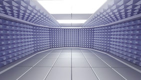 O interior à prova de som da sala, 3d rende Imagem de Stock Royalty Free