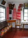 O interior velho com ícones foto de stock royalty free