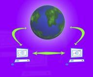 O Internet imagens de stock
