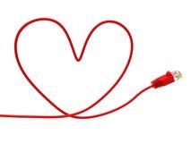 O Internet do amor indica o world wide web e o computador Fotos de Stock Royalty Free