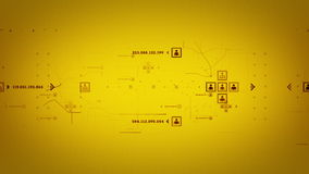 O Internet move o seguimento do ouro ilustração do vetor