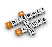 O Internet nunca dorme Imagens de Stock