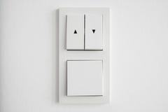 O interruptor da luz, acima de para baixo comuta o close up Imagens de Stock Royalty Free