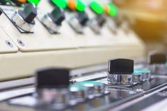 O interruptor de seletor técnico no painel de controle com bonde equipa-se Imagem de Stock Royalty Free