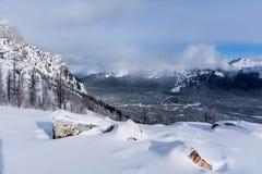 O inverno ajardina o parque nacional de Banff Fotografia de Stock Royalty Free