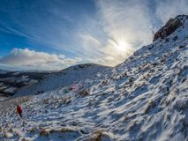 O inverno bonito caminha acima Sron um Chlachain, acima de Killin, Scotla foto de stock royalty free
