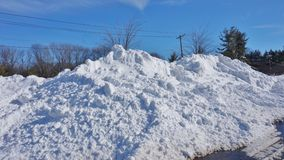 O inverno da neve do blizzard de Jonas do snowzilla ataca o 23 de janeiro de 2016 Fotografia de Stock Royalty Free