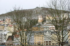O inverno em Karlovy varia Imagens de Stock Royalty Free