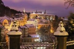 O inverno em Karlovy varia Imagem de Stock Royalty Free
