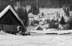 O inverno em montanhas de Apuseni Fotos de Stock