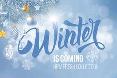 O inverno está vindo ilustração stock