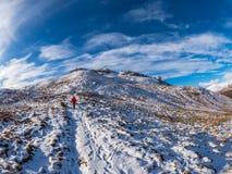 O inverno fantástico caminha acima Sron um Chlachain, acima de Killin, Scotla imagem de stock