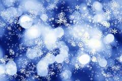 O inverno ilumina o fundo Fotografia de Stock