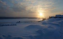 O inverno, neve, geia abetos vermelhos nevado inverno mágico da floresta do inverno Fotografia de Stock