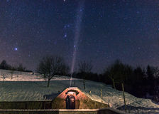 O inverno Stars o céu Imagens de Stock Royalty Free