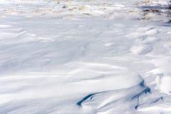 O inverno textured o contexto com teste padrão da superfície da neve Imagem de Stock