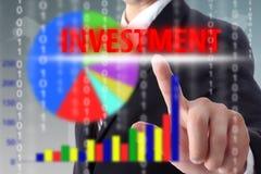 O investimento do toque para investe o negócio Fotos de Stock