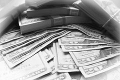 O investimento lucra em preto & em branco com o quadro branco de alta qualidade foto de stock