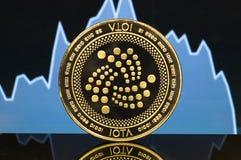 O Iota é uma maneira moderna de troca e desta moeda cripto imagens de stock royalty free