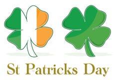 O Irish folheia bandeira do trevo Imagem de Stock