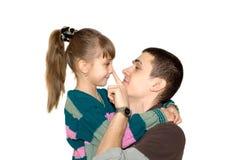 O irmão e a irmã Fotografia de Stock Royalty Free