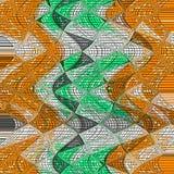 O Irregular gerencie o teste padrão dos triângulos na laranja e no verde ilustração royalty free
