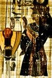 O Isis cunjured dois incandencent no vinho Fotografia de Stock