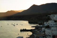 O Isleta del Moro, Almeria imagens de stock