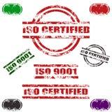 O ISO CERTIFICOU o jogo do selo do grunge Imagens de Stock Royalty Free