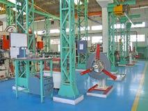 O ISO de planeamento moderno certifica o assoalho da fábrica em india Fotografia de Stock Royalty Free